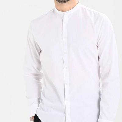 メンズ ファッション MANDARIN TAPE SLIM FIT - Shirt - white