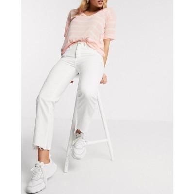 ピンキー Pimkie レディース ジーンズ・デニム ボトムス・パンツ Sustainable Straight Fit Jean In White ホワイト