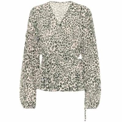バウム ウンド ヘルガーデン Baum und Pferdgarten レディース ブラウス・シャツ トップス Monia printed silk-blend blouse Eden Green