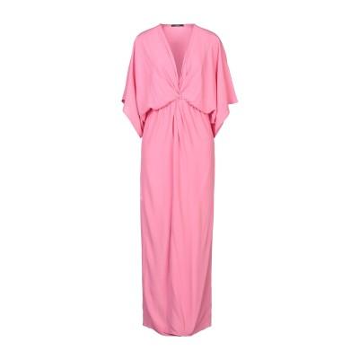カルラ ジー CARLA G. ロングワンピース&ドレス ピンク 40 アセテート 68% / シルク 32% ロングワンピース&ドレス