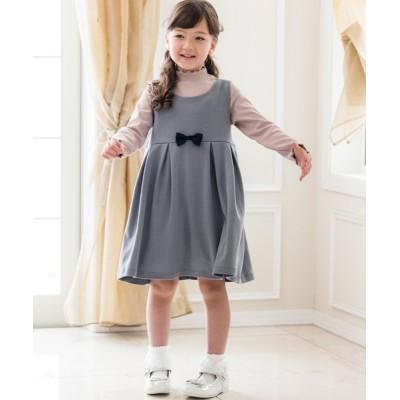 Catherine Cottage / ウエストリボンカットソージャンパースカート KIDS ワンピース > ジャンパースカート