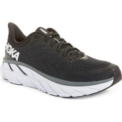 ホカ オネオネ HOKA ONE ONE メンズ ランニング・ウォーキング シューズ・靴 Clifton 7 Running Shoe Black/White