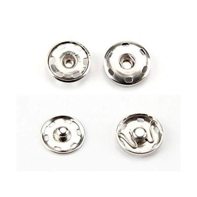 HJ スナップボタン 金属スナップ 金属ボタン 縫製ボタン ジーンズボタン アクセサリー材料 ハンドメイドパーツ シルバー ドットボタン はめ込み式