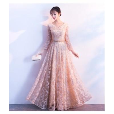 結婚式 ドレス パーティー ロングドレス 二次会ドレス ウェディングドレス お呼ばれドレス 卒業パーティー 成人式 同窓会hs109