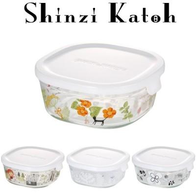 シンジカトウ iwaki イワキ パック&レンジ 450ml 耐熱ガラス 作り置き 保存容器 公式 レンジ オーブン レンジ調理 収納 常備菜 白 ホワイト