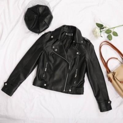 ライダースジャケット 大きいサイズ レディース 秋冬 アウター 冬レディース コート アウター 40代のレデースファッション アウター ジャ