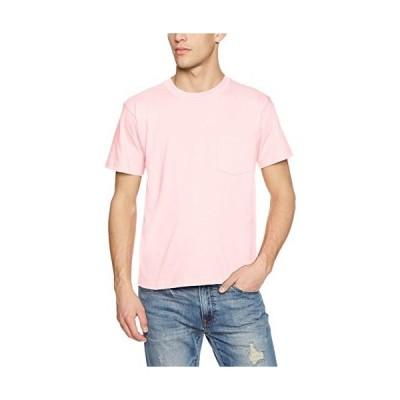 [ヘインズ] ビーフィー ポケット付き Tシャツ ポケT BEEFY-T 1枚組 綿100% 肉厚生地 H5190 メンズ ライトピンク XS