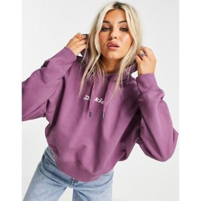 ディッキーズ レディース パーカー・スウェット アウター Dickies Loretto boxy hoodie in purple