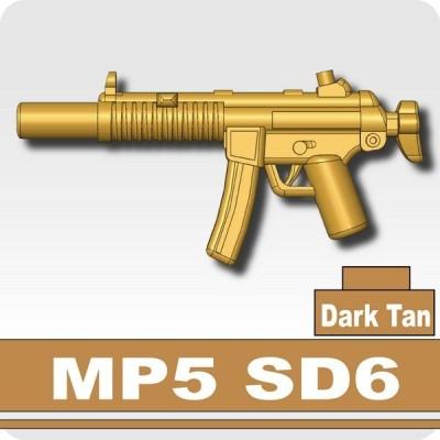 AFM MP5 SD6/ダークタン サプレッサー内装式/特殊部隊装備に/フィグ用