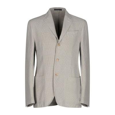 POLO RALPH LAUREN テーラードジャケット ライトグレー 46 コットン 57% / 麻 31% / シルク 12% テーラードジャケ