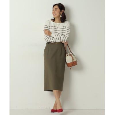 【ジャスグリッティー】 チェーンベルト付きタイトスカート レディース カーキ 2 JUSGLITTY