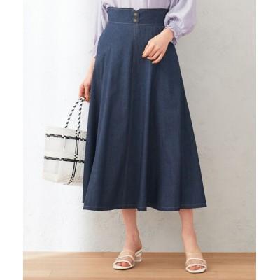 Feroux / 【洗える】ボリュームフレアデニム  スカート WOMEN スカート > デニムスカート
