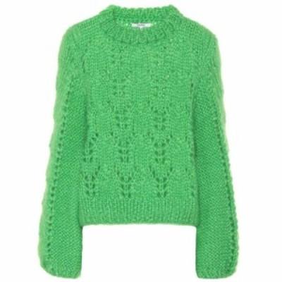 ガニー Ganni レディース ニット・セーター トップス Julliard mohair and wool sweater Classic Green
