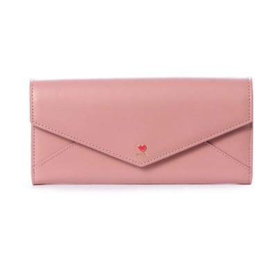 サマンサタバサプチチョイス プチハートラブレターシリーズ(かぶせ長財布) ピンクベージュ