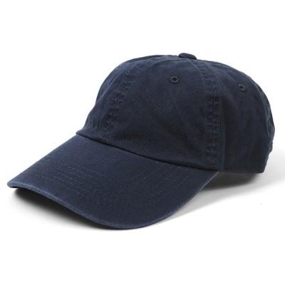 大きいサイズ 帽子 L XL メンズ コットン ローキャップ  BIGWATCH 正規品 ネイビー/ビッグワッチ パネル コーディネート UVケア