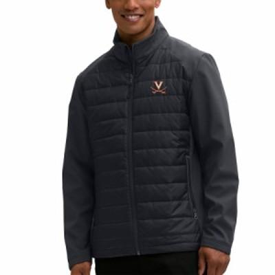 """メンズ ジャケット """"Virginia Cavaliers"""" Hybrid Full-Zip Jacket - Black"""