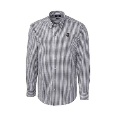 x シャツ トップス メンズ Big & Tall NCAA South Carolina Gamecocks Long Sleeve Stretch Gingham Button Down Charcoal