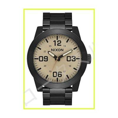 Nixon Corporal SS A346。 100m防水XLメンズ腕時計(文字盤48mm)。 24mmステンレススチールバンド)。 ブラック / カ