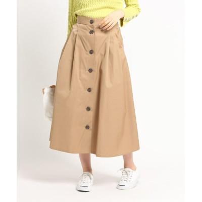 Dessin(Ladies)(デッサン(レディース)) 【Sサイズあり・洗える】コットンブレンドフレアボタンスカート