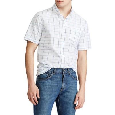 チャップス メンズ シャツ トップス Big & Tall Performance Short Sleeve Easy Care Button-Down Shirt