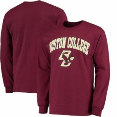 Fanatics Branded ファナティクス ブランド スポーツ用品  Fanatics Branded Boston College Eagles Maroon Campus Long Sleeve T-Shirt
