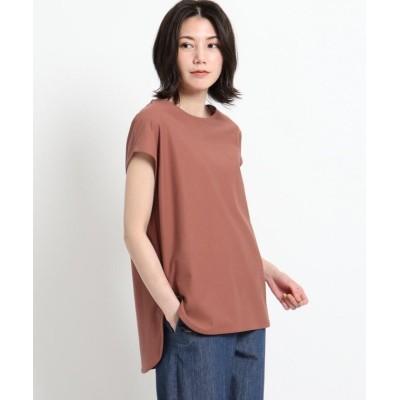 【デッサン】 シャツテールTシャツ レディース ブラウン 02(M) Dessin