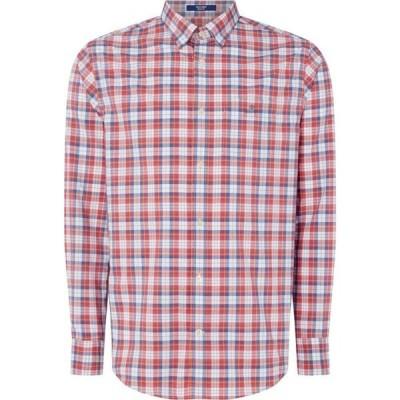 ガント Gant メンズ シャツ トップス Long Sleeve Tonal Plaid Shirt Red