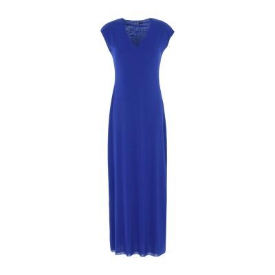ALMERIA ロングワンピース&ドレス ブルー L ナイロン 89% / ポリウレタン 11% ロングワンピース&ドレス