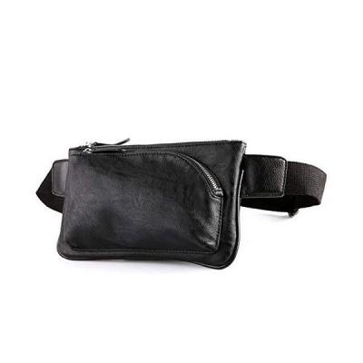[マローサム] 職人が作る 多機能 ボディバッグ ウエストバッグ ショルダーバッグ メンズ レザー うえすとぽーち ランニングぽーち 黒 ブラック
