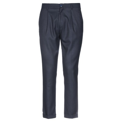 JULIAN KEEN パンツ ダークブルー 50 ポリエステル 65% / レーヨン 32% / ポリウレタン 3% パンツ