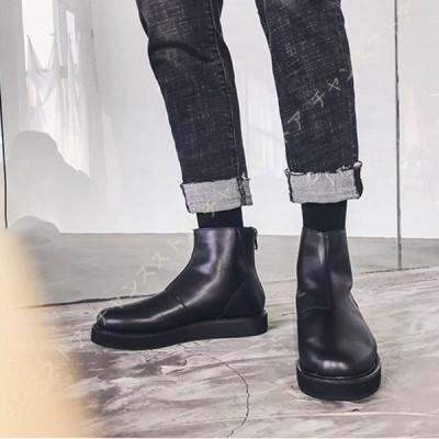 ショートブーツ メンズ ブーツ 防滑  男性 メンズブーツ 靴 大きいサイズ オシャレ ファッション ブラック 黒  チェルシーブーツ 秋 冬  かっこいい 歩きやすい