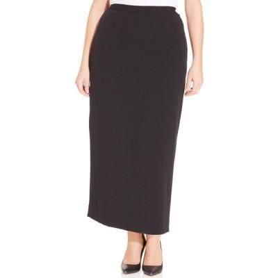 カスパー スカート ボトムス レディース Plus Size Column Skirt Black