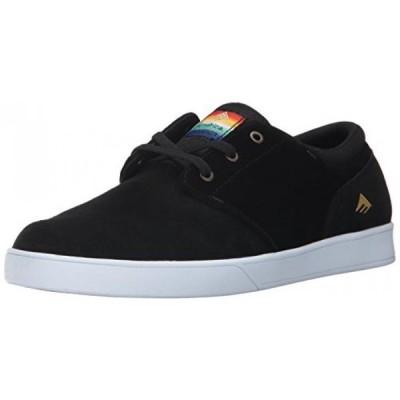 サーフィン Emerica Men's The Figueroa Skate Shoe, Black, 11.5 Medium US
