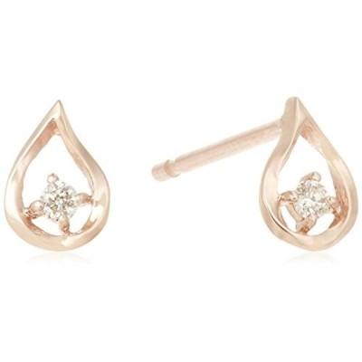 エステール ESTELLE WEB限定商品ダイヤモンド K10 ピンクゴールドしずくモチーフ ピアス 0212-2454-0011-0000