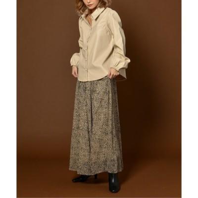 スカート ciffon leopard long skirt