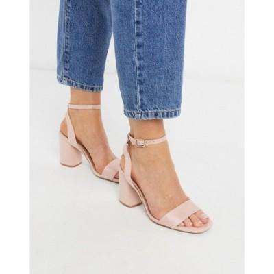 ストラディバリウス レディース サンダル シューズ Stradivarius heeled sandal in pink