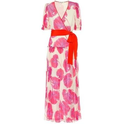 ダイアン フォン ファステンバーグ Diane von Furstenberg レディース ワンピース マキシ丈 Breeze printed silk chiffon maxi dress Kimono Leaf Almond Multi