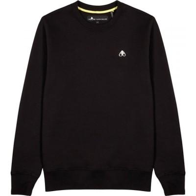 ムースナックル Moose Knuckles メンズ スウェット・トレーナー トップス greyfield black cotton sweatshirt Black