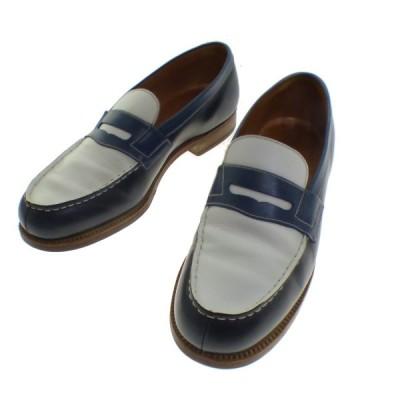 J.M.WESTON Signature Loafer ボックスカーフ ローファー ホワイト×ブルー サイズ:4C (京都店) 200418