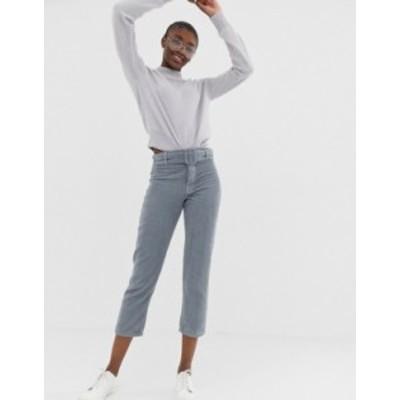 エイソス レディース デニムパンツ ボトムス ASOS DESIGN Florence authentic straight leg jeans in chunky cord with buckle detail Li