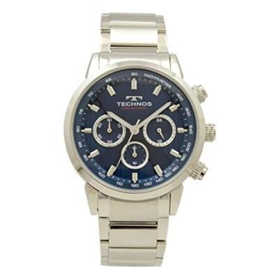 [テクノス] 腕時計 クロノグラフ T9659SN メンズ シルバー