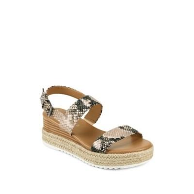 エアロソールズ レディース サンダル シューズ Union Leather Espadrille Platform Sandal TAN SNAKE
