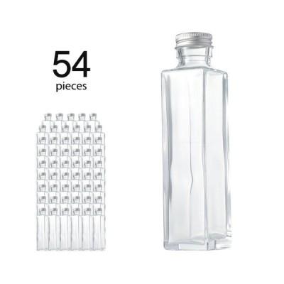 ハーバリウム瓶 スクエア164ml フタ付き 54個セット(取り寄せ)