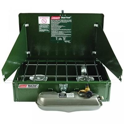 アウトドア用品 コールマン Coleman 2 Burner Dual Fuel Compact Liquid Fuel Stove