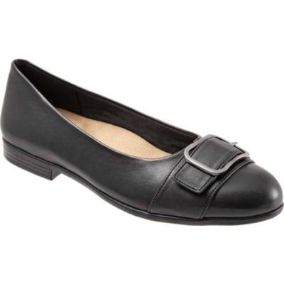 トロッターズ サンダル シューズ レディース Aubrey Ballet Flat (Women's) Black Soft Nappa Leather