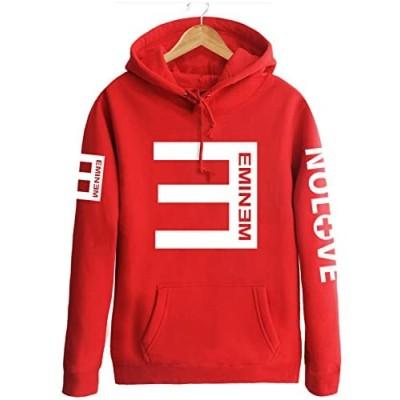 Eminem演出服 エミネム/RAP反Eパーカー フード付き/カップルお揃いジャージ/パーカー 応援服 ヒップホップ /4色入り/秋冬 防寒 男女兼用ペアルック トレーナー HOODY