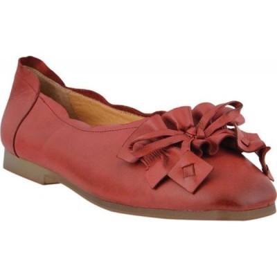 スプリングステップ L'Artiste by Spring Step レディース スリッポン・フラット バレエシューズ シューズ・靴 Louisa Ballet Flat Red Leather