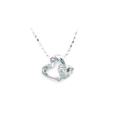 ネックレス レディース 天然石 K18ホワイトゴールド ダイヤモンド ペンダント ネックレス ハート【今だけ代引手数料無料】