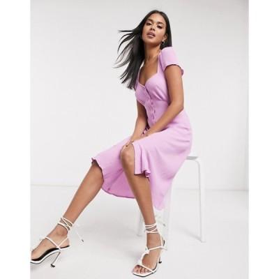 ゴースト レディース ワンピース トップス Ghost Leona button dress in pink