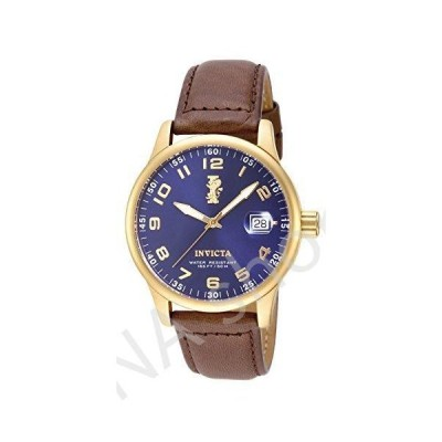 """Invicta Men's 15255 """"I-Force"""" 18k Gold Ion-Plated Stainless Steel and Brown Leather Watch(並行輸入品)"""